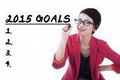 Female Entrepreneur Writes Her Goals