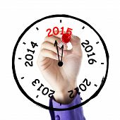 Hand Drawing Annual Clock
