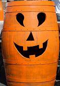 halloween pumpkin barrel head