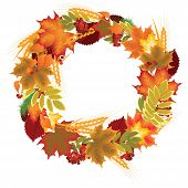 wreath of autumn leaves