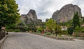 Small Town Kastraki Near Meteora Rocks In Greece