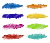 Abstract watercolor paint strokes