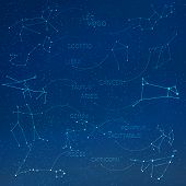 Постер, плакат: Zodiac constellation in skyline with many other stars