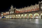 The Cloth Hall During The Night In Krakow, Lesser Poland,
