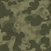 Military camouflage seamless pattern. Vector
