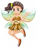 Illustration of a beautiful fairy