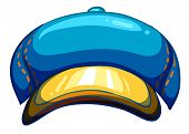 Illustration of a blue lumberjack's hat on a white background