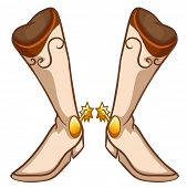 Illustration of a pair of fashionable boots on a white background