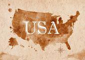 Map United States retro