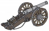 foto of cannon  - Hand drawing of a big historical cannon - JPG