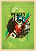 Abstract party poster design in color. Vector illustration.