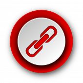 link red modern web icon on white background