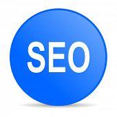seo internet blue icon