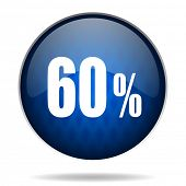 60 % internet blue icon