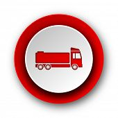 truck red modern web icon on white background