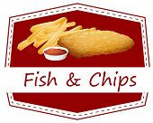 Illustration of fish and chips