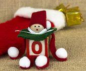 Handmade Toy Elf with Christmas Stocking