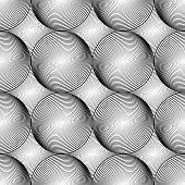 Design Seamless Monochrome Sphere Geometric Lines Pattern