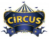 Blue circus sign. A blue circus sign on a white background for your entertainment