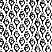 Abstract black and white grunge seamles pattern