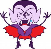 Halloween Dracula crying bitterly