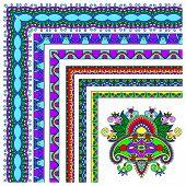 collection of ornamental floral vintage frame design.