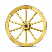 Wagon wheel. Vector illustration.
