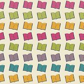 School Pattern With Book