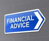 Financial Advice Concept.