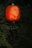 LOS ANGELES - OCT 4:  Phillip Seymour Hoffman Carved Pumpkin at the RISE of the Jack O'Lanterns at Descanso Gardens on October 4, 2014 in La Canada Flintridge, CA