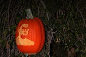 LOS ANGELES - OCT 4:  Kanye West Carved Pumpkin at the RISE of the Jack O'Lanterns at Descanso Gardens on October 4, 2014 in La Canada Flintridge, CA