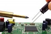 Solder The Capacitor On The Motherboard