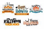 Постер, плакат: Halloween scary banners