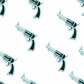 picture of revolver  - revolver vector seamless pattern illustration clip art - JPG