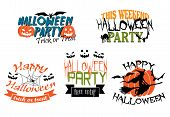 Постер, плакат: Halloween party banners