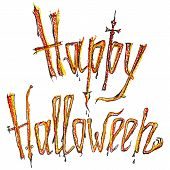 Happy Halloween colored inscription