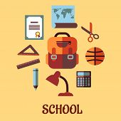 Infographic school education in flat design