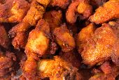 Indian Chicken 65 nuggets, a favourite light spicy snack in the subcontinent