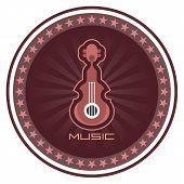 Guitar Vector Label