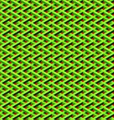 abstract seamless green chain link fence with red background