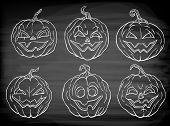 6 Halloween Pumpkins