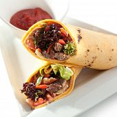 Burrito with Meat and Vegetables