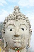 Head Of Buddha Image in Public Temple