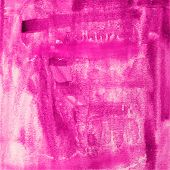 abstract hand drawn pink watercolor background, aquarelle colorf