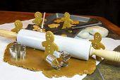 Gingerbread Cookies Making Gingerbread Cookies