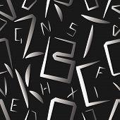 Alphabet Letters Seemless Pattern