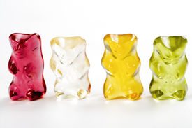 foto of gummy bear  - Four gummy bears - JPG