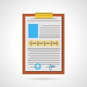 Flat vector icon for medical clipboard