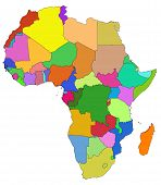 Colorful map of africa