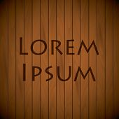 Wooden Background Top View Sample Text